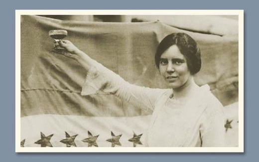 Alice Paul toasts the passage of the 19th Amendment (with grape juice)